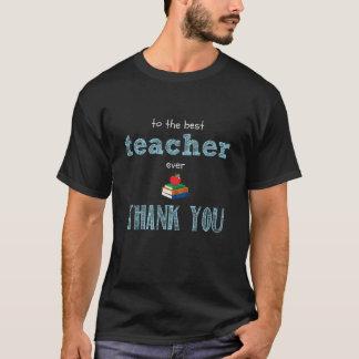 el mejor profesor, gracias playera