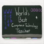 El mejor profesor Mousepad del ordenador del mundo Tapete De Ratón