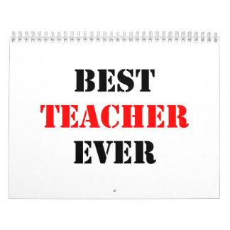 El mejor profesor nunca calendarios de pared