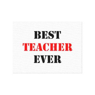 El mejor profesor nunca impresiones de lienzo