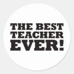 El mejor profesor nunca pegatina redonda
