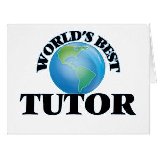 El mejor profesor particular del mundo tarjeta de felicitación grande
