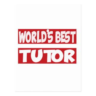 El mejor profesor particular del mundo tarjeta postal