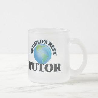 El mejor profesor particular del mundo taza de café esmerilada