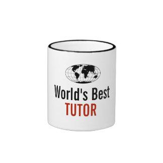 El mejor profesor particular del mundo taza de dos colores