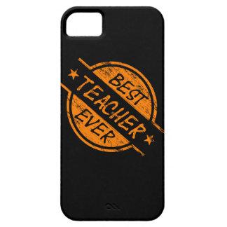 El mejor profesor siempre anaranjado iPhone 5 protectores
