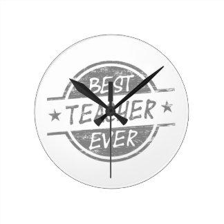 El mejor profesor siempre gris reloj