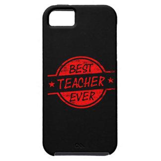 El mejor profesor siempre rojo iPhone 5 protectores