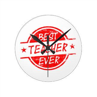 El mejor profesor siempre rojo relojes de pared