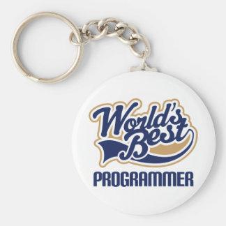 El mejor programador de los mundos llavero redondo tipo pin