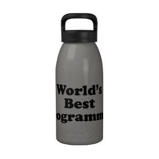 El mejor programador del mundo botellas de agua reutilizables