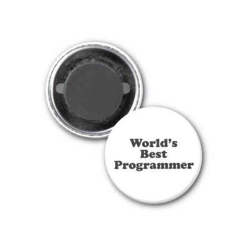 El mejor programador del mundo imán redondo 3 cm