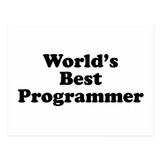 El mejor programador del mundo tarjeta postal