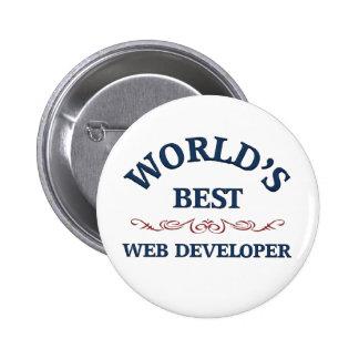 El mejor promotor del Web del mundo Pin Redondo De 2 Pulgadas