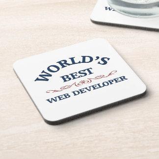 El mejor promotor del Web del mundo Posavasos De Bebidas