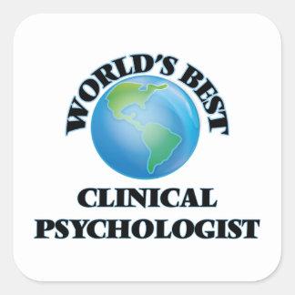 El mejor psicólogo clínico del mundo pegatina cuadrada