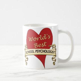 El mejor psicólogo de la escuela del mundo taza básica blanca