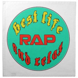 El mejor rap de la vida servilletas