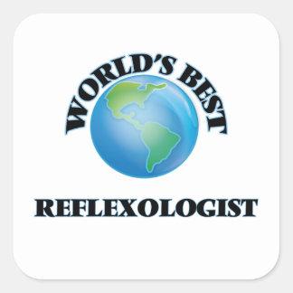 El mejor Reflexologist del mundo Calcomanía Cuadradas