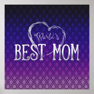 El mejor regalo adorable de la mamá el   del mundo póster