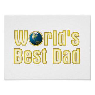 El mejor regalo adorable del papá el | del mundo póster