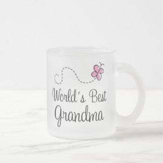 El mejor regalo de la mariposa de la abuela del taza de cristal