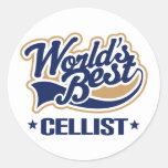 El mejor regalo de la música del violoncelista del etiqueta redonda