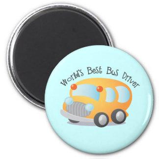 El mejor regalo del conductor del autobús escolar  imán redondo 5 cm