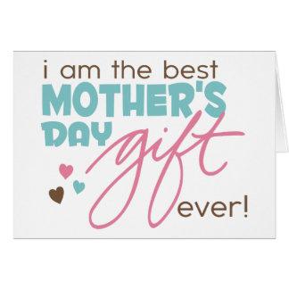 El mejor regalo del día de madre nunca tarjeta de felicitación