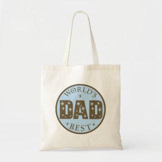 El mejor regalo del papá de los mundos bolsa tela barata