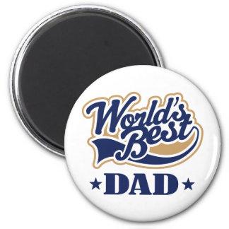 El mejor regalo del papá del mundo fresco imán redondo 5 cm