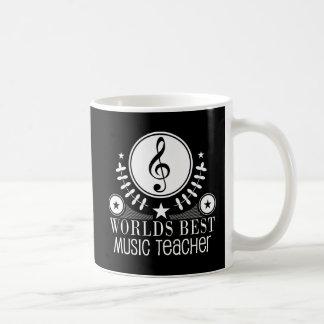 El mejor regalo del profesor de música de los taza básica blanca