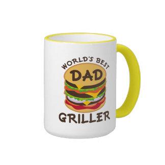 El mejor regalo del tema del Bbq del Griller del Taza De Dos Colores