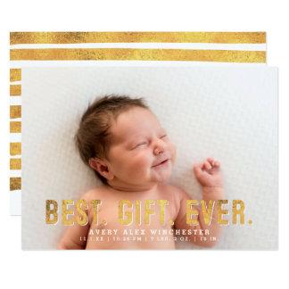 """El mejor. Regalo. Nunca. Falsa foto del nacimiento Invitación 5"""" X 7"""""""