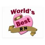 El mejor RN del mundo Tarjetas Postales