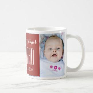 El mejor rojo de la taza del navidad del papá de