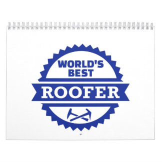 El mejor roofer del mundo calendarios de pared