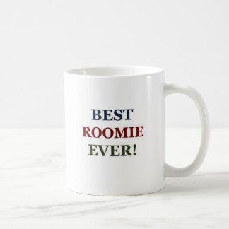 El mejor roomie nunca taza básica blanca