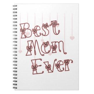 El mejor rosa de la mamá nunca libreta