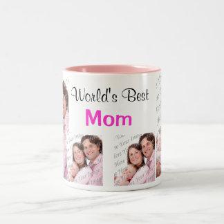 El mejor rosa de la taza de la foto de la mamá del