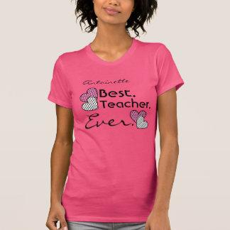 El mejor ROSA de los corazones V19 del lunar del p Camiseta