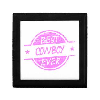 El mejor rosa del vaquero nunca cajas de regalo