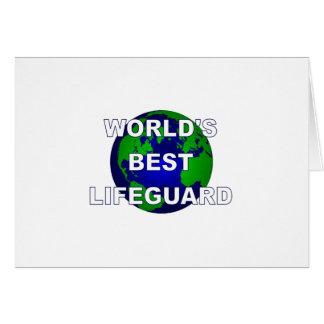 El mejor salvavidas del mundo tarjeta de felicitación
