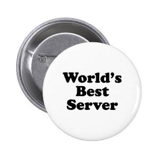 El mejor servidor del mundo pin redondo de 2 pulgadas