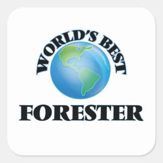 El mejor silvicultor del mundo pegatina cuadrada