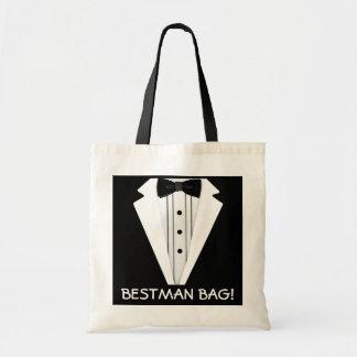 El mejor smoking del boda del hombre bolsa tela barata