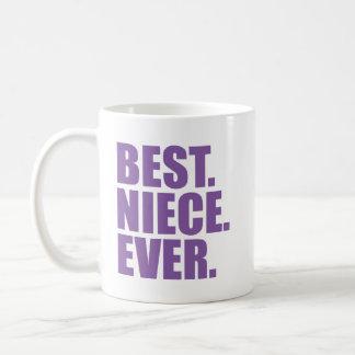 El mejor. Sobrina. Nunca. (púrpura) Tazas