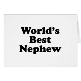 El mejor sobrino del mundo tarjeta de felicitación