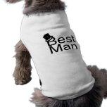 El mejor sombrero de copa del hombre camiseta de mascota