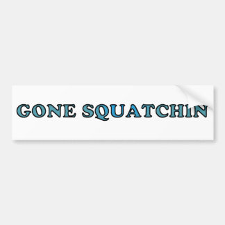 El mejor Squatchin ido divertido Pegatina De Parachoque